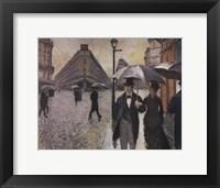 Framed Paris, a Rainy Day, 1877