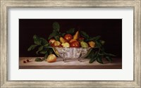 Framed Fruit And Silver
