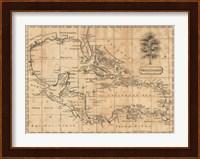 Framed Caribbean 1806