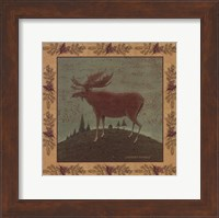 Framed Folk Moose