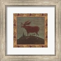 Framed Folk Moose
