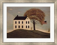 Framed House with Flag