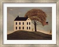 Framed House with Flag