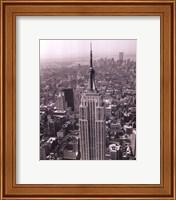 Framed Empire State Building / World Trade Center