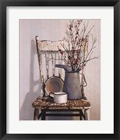 Framed Watering Can On Chair