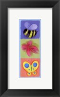Wings Flower Panel Framed Print