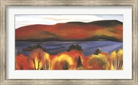 Framed Lake George, Autumn, 1927