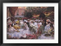 Framed Georges Jeanniot - Le Diner A' L'Hotel Ritz