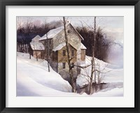 Framed Winter Mill