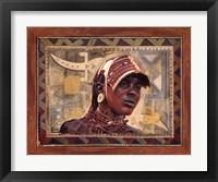 Framed African Warrior I