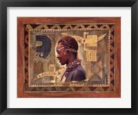Framed African Warrior II