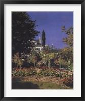 Framed Jardin En Fleurs