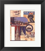 New York Collage Framed Print