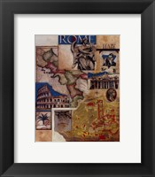 Rome Collage Framed Print