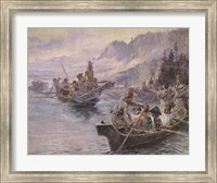 Framed Lewis and Clark On The Lower Columbia