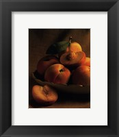 Framed Still Life with Peaches