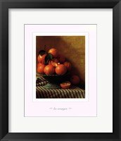 Framed Still Life with Oranges