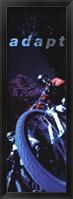 Adapt-Mountain Biker Framed Print