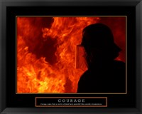Framed Courage - Fireman