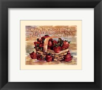Framed Fruit Stand Strawberries