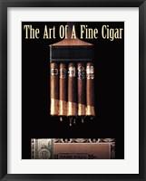 Framed Art of a Fine Cigar