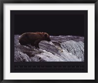 Framed Grizzly Bear and Fish
