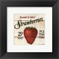 Framed Sweet and Juicy Strawberries