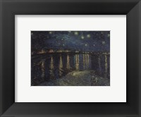 Framed Starlight Over The Rhone, 1888
