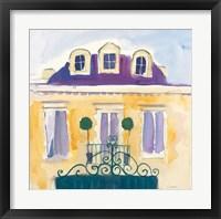 Framed Le Maison Jaune I