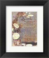 Framed Legend of Sand Dollar