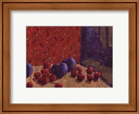 Framed Plums and Cherries I
