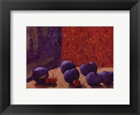 Framed Plums and Cherries II