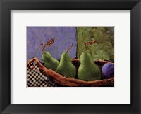 Framed Plums and Pears I