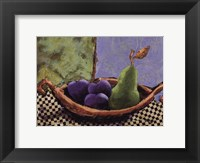 Framed Plums and Pears II