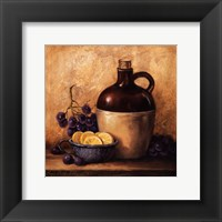 Framed Jug with Grapes and Lemons