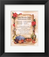 Framed Happy Marriage Recipe (Spanish)