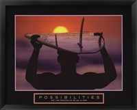 Framed Possibilities - Surfer