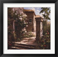 Framed Courtyard With Flowers