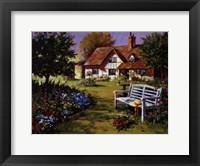 Framed Garden Scene
