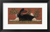 Framed Red Folk Bunny