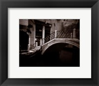 Canal Bridge Framed Print