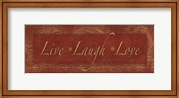 Framed Live Laugh Love - red
