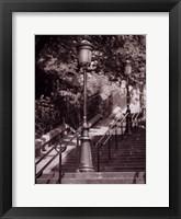 Framed Les Escaliers De Montmartre