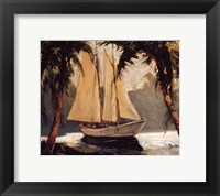 Framed Sailboat, Santa Barbara