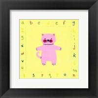 Framed Alphabet Animals IV