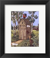 Framed Outhouse - Rooster
