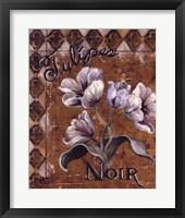 Framed Tulipes Noir