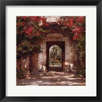 Framed Flowered Doorway