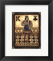 Framed Harlequin King - Mini