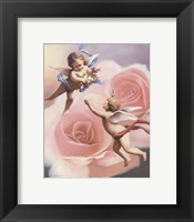 Framed Cherubs' Rose